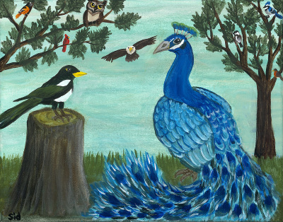 Aesop's Peacock and the Magpie